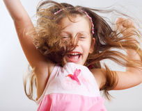 Little girl have a fun. Royalty Free Stock Photos