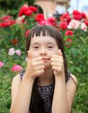 Little girl have fun Stock Images