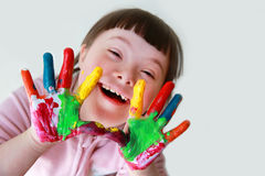 Little girl have fun Royalty Free Stock Photos