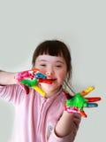 Little girl have fun Stock Image