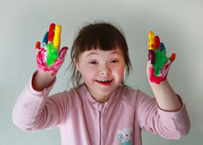 Little girl have fun Royalty Free Stock Image