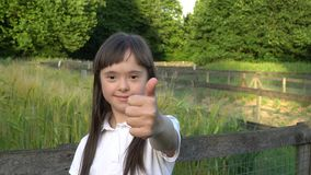 Little girl have fun stock video