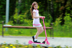 Little girl have fun outdoor Stock Photography