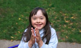 Little girl have fun Royalty Free Stock Photo