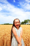 Little girl have fun Royalty Free Stock Photography