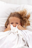 Little girl having childhood nightmares Royalty Free Stock Photos