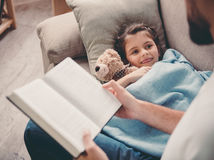 Little girl having a cold Royalty Free Stock Images