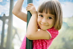Little girl having fun Royalty Free Stock Images