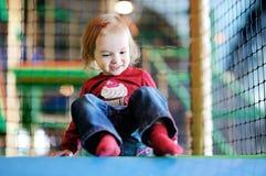 Little girl having fun Stock Image