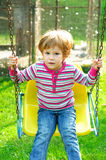 Little girl having fun Royalty Free Stock Photo