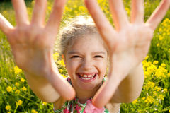Little girl having fun Stock Image