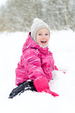 Little girl having fun Royalty Free Stock Photography