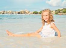 Little girl having fun. Royalty Free Stock Photos