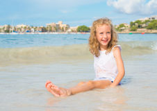 Little girl having fun. Royalty Free Stock Photography