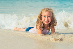 Little girl having fun. Stock Image