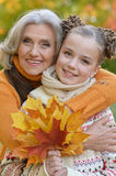 Little girl having fun with grandmother Stock Photography
