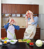 Little girl is having fun with  her mother Royalty Free Stock Image