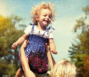 Little girl having fun with mother royalty free stock photos