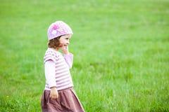 Little girl having fun outdoors Royalty Free Stock Image