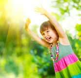 Little girl having fun outdoors Royalty Free Stock Photo