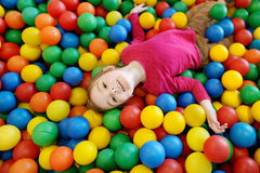 Little girl having fun at the playground Stock Photography