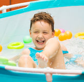 Little girl having fun in pool Royalty Free Stock Photography
