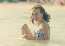 Little girl having fun. Stock Images