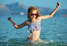 Little girl having fun. Royalty Free Stock Image