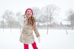 Girl loves wintertime Stock Images