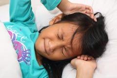 Little Girl Having Nightmare Royalty Free Stock Photos