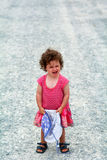Little girl having a tantrum screaming Royalty Free Stock Photography