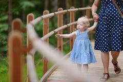 Little girl having a walk Royalty Free Stock Photos