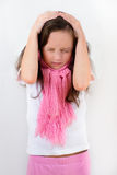 Little girl with headache Royalty Free Stock Photo