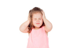 Little girl with headache Royalty Free Stock Images