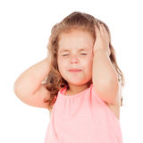 Little girl with headache Royalty Free Stock Photos