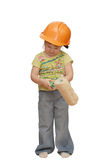 The little girl in a helmet Royalty Free Stock Photo