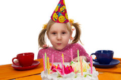 Little girl in her birthday Royalty Free Stock Photo