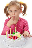 Little girl in her birthday Stock Photography