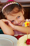 Little girl on her birthday Stock Image