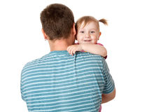 Little girl with her dad Stock Images