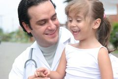 Little girl and her doctor Royalty Free Stock Photography