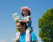 Little girl with her father Stock Photography