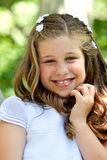 Little Girl in her First Communion Day Royalty Free Stock Photos