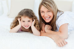 Little girl with her grandmother royalty free stock image