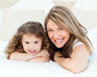 Little girl with her grandmother Royalty Free Stock Photography