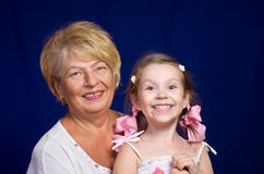 Little girl with her grandmother Royalty Free Stock Photos