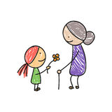 Little Girl and her Grandmother Royalty Free Stock Image