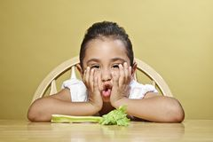 Little girl and her healthy snack Royalty Free Stock Photo