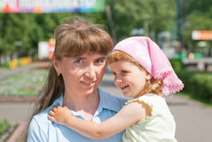A little girl with her mother Royalty Free Stock Photography