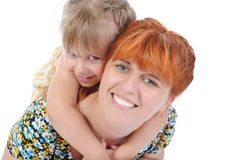 Little girl with her mother. Stock Image
